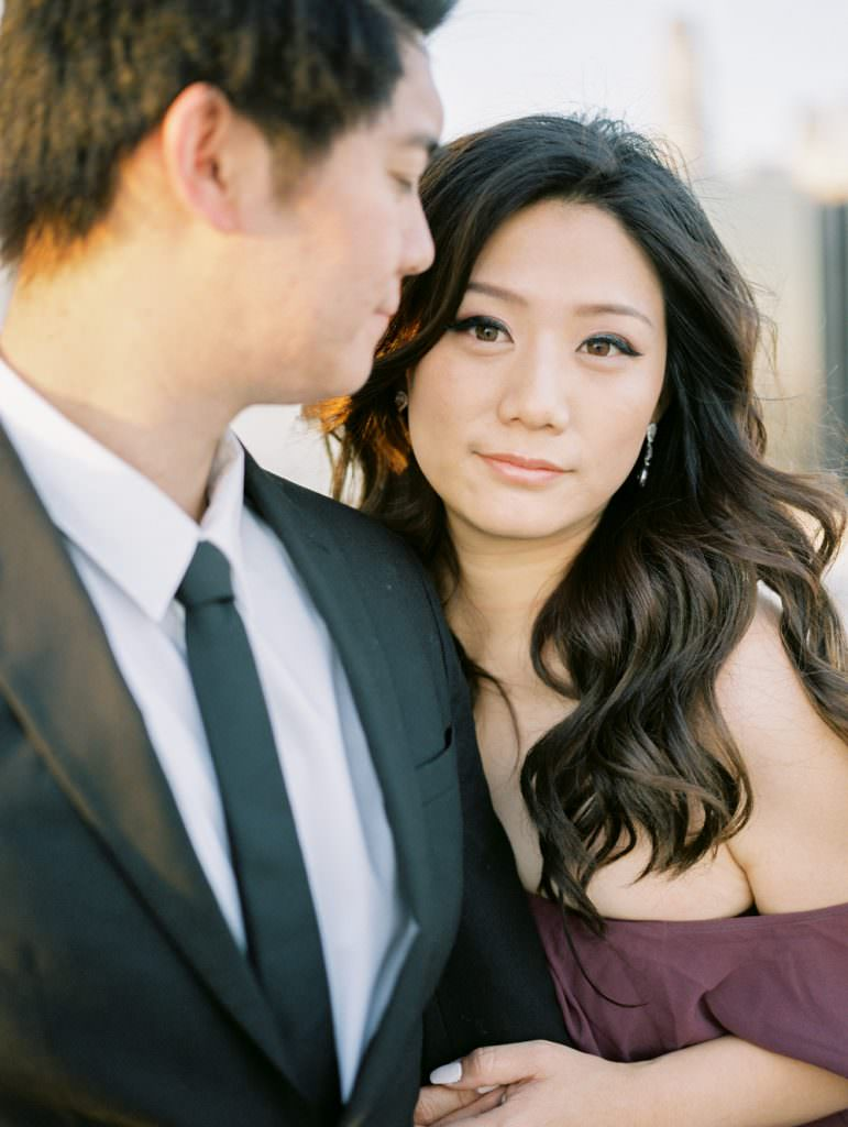 DOWNTOWN LOS ANGELES IN HOME ROOFTOP ENGAGEMENT SESSION-0030