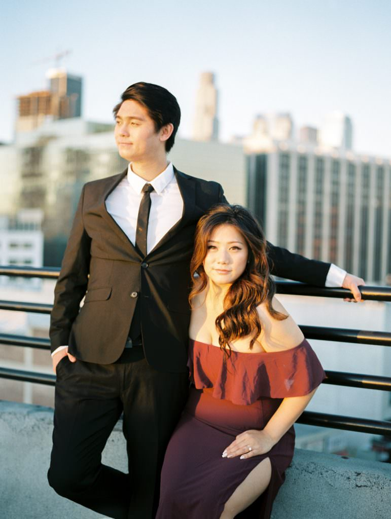DOWNTOWN LOS ANGELES IN HOME ROOFTOP ENGAGEMENT SESSION-0033