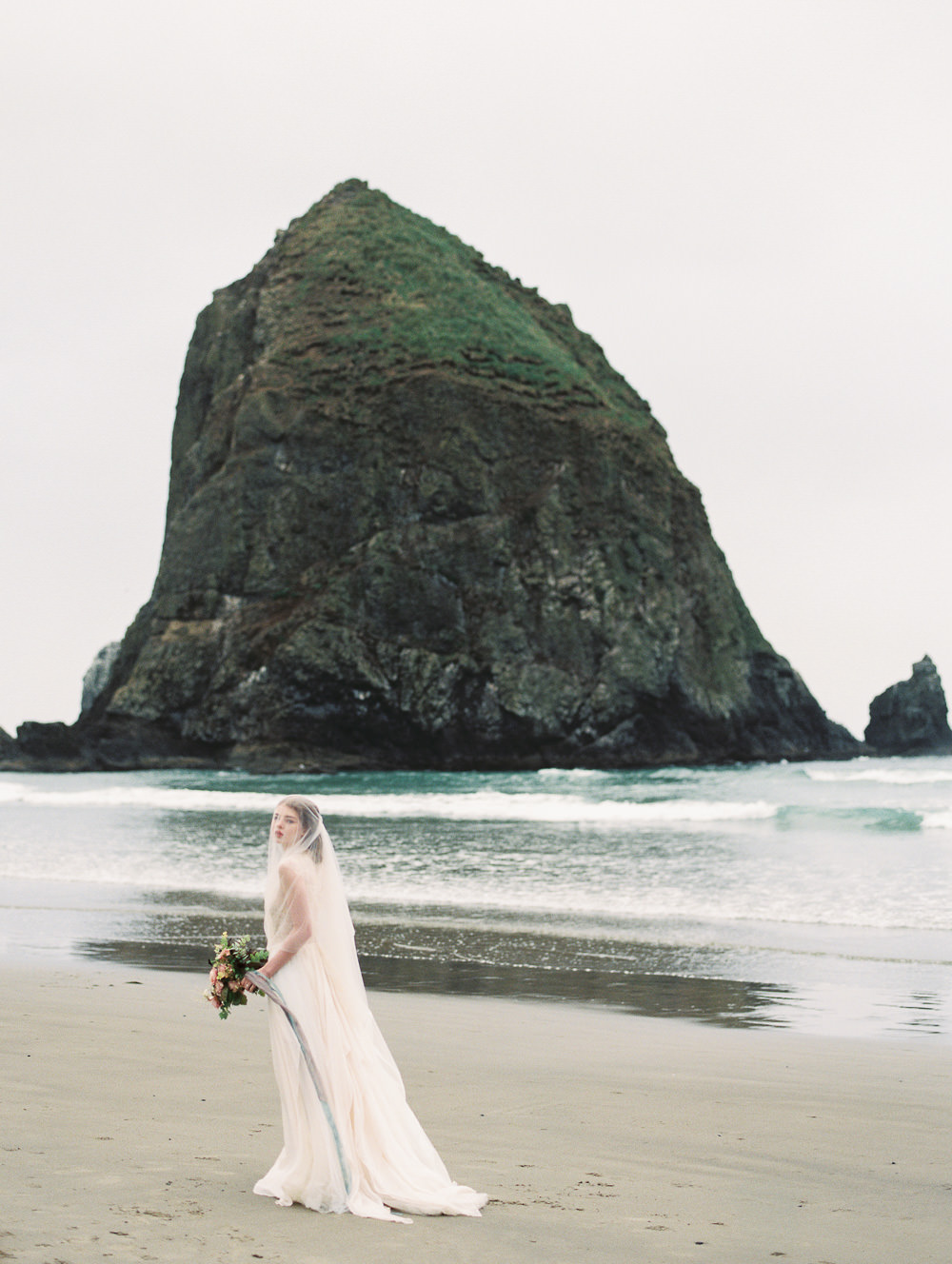 Oregon Coast Cannon Beach Bridal Wedding Photography 0002